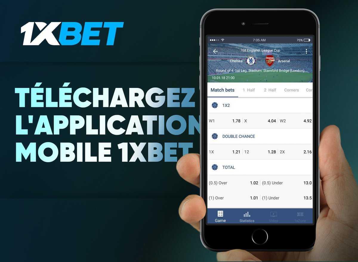 Telechargez l'application mobile 1xbet