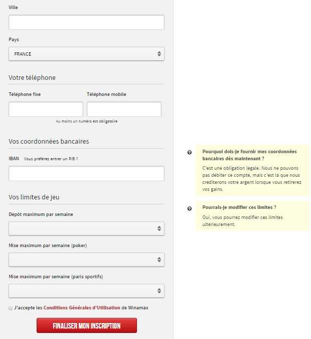 Comment incrire sur l'application Winamax